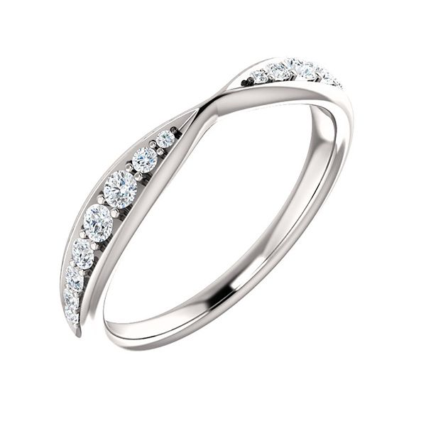 Diamond Pinched Contour Band Hamilton Hill Jewelry Durham, NC