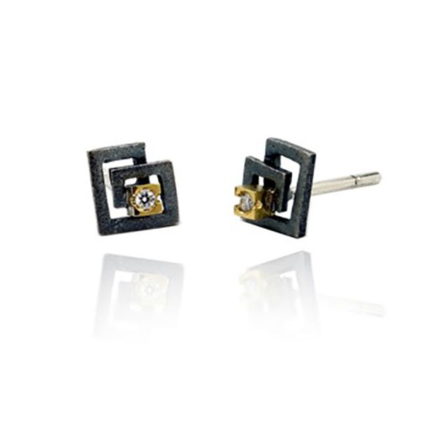 Square 'Zoom' Earrings Hamilton Hill Jewelry Durham, NC