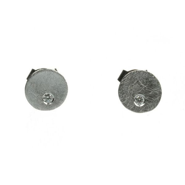 'Flo' Diamond Earrings, studs Hamilton Hill Jewelry Durham, NC