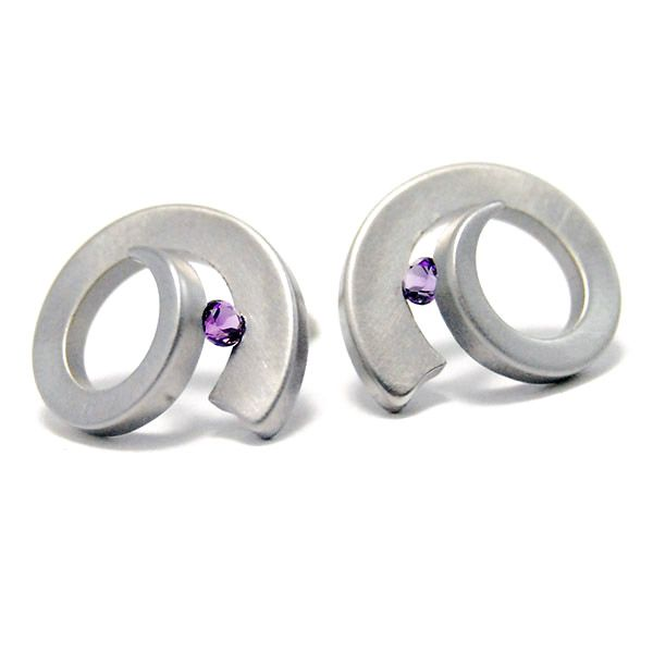 Amethyst Musicus Earrings Hamilton Hill Jewelry Durham, NC