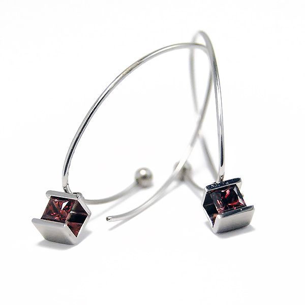 Cube Earring Charms Hamilton Hill Jewelry Durham, NC