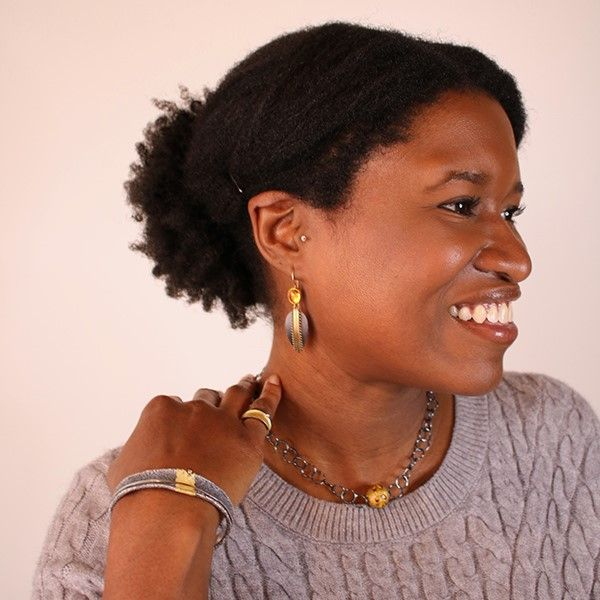 Teardrop Shield Earrings Hamilton Hill Jewelry Durham, NC