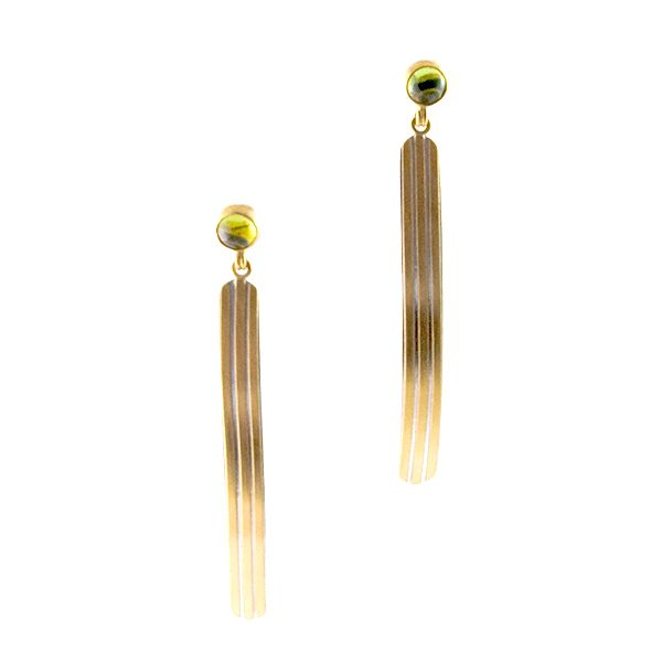 Peridot Narrow Pinstripe Earrings Hamilton Hill Jewelry Durham, NC