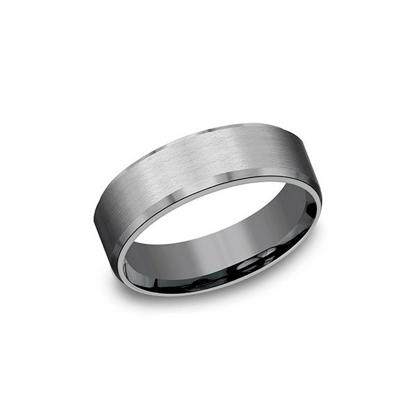 Beveled Band with Satin Finish Hamilton Hill Jewelry Durham, NC