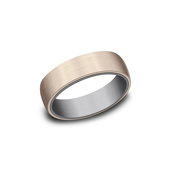 Tantalum and Rose Gold Band with Satin Finish Hamilton Hill Jewelry Durham, NC