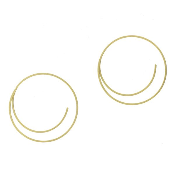 'Linear' Round Earrings Hamilton Hill Jewelry Durham, NC