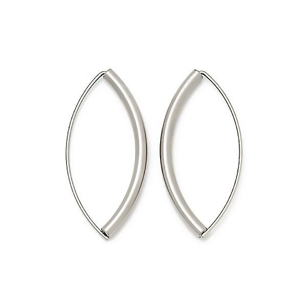 Small, Thick Navette Earrings Hamilton Hill Jewelry Durham, NC