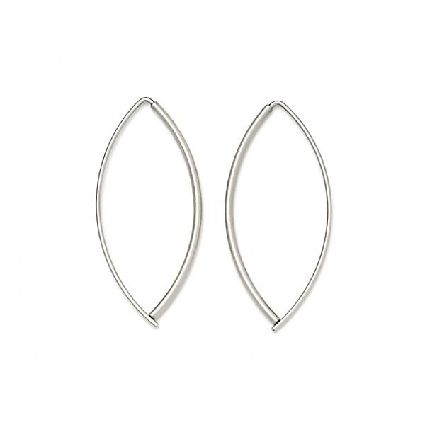 Small, Thin Navette Earrings Hamilton Hill Jewelry Durham, NC