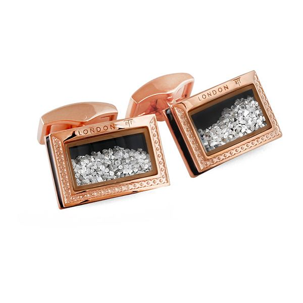 Gold Dust Cufflinks Hamilton Hill Jewelry Durham, NC