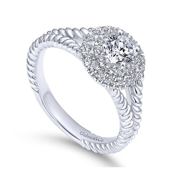 Double Halo Engagement Ring Hingham Jewelers Hingham, MA