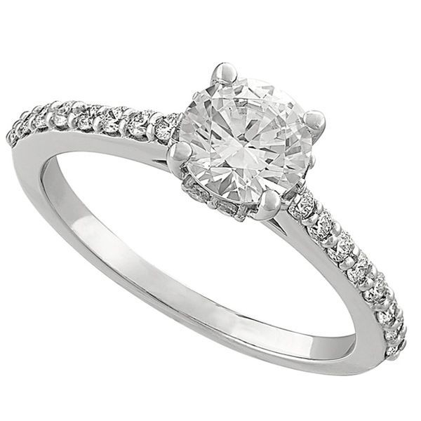 Accented Solitaire Engagement Ring Hingham Jewelers Hingham, MA