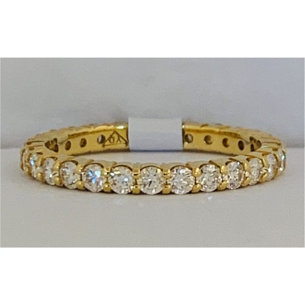 Yellow Gold Eternity Band Hingham Jewelers Hingham, MA