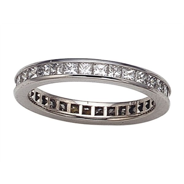 Princess Cut Eternity Band Hingham Jewelers Hingham, MA