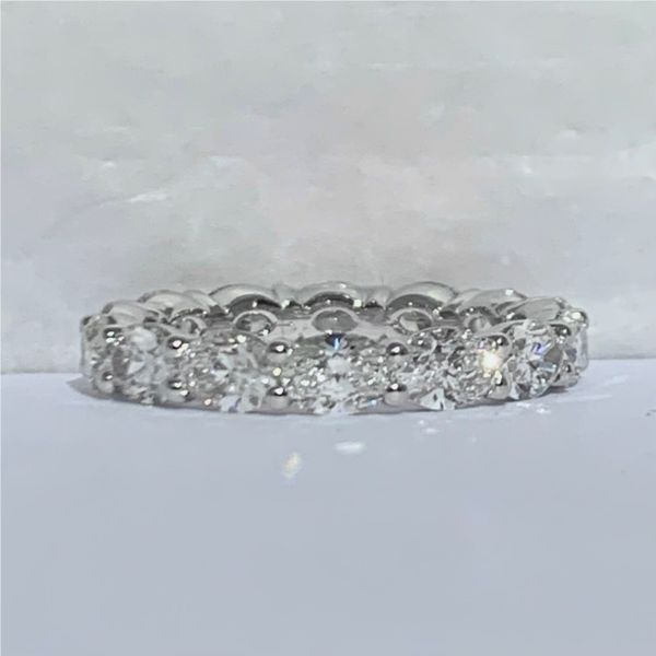 East-West Oval Diamond Eternity Band Hingham Jewelers Hingham, MA