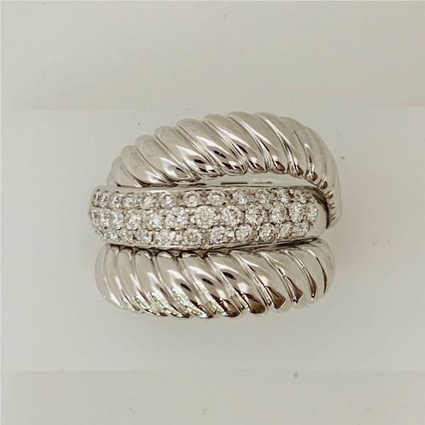 Triple Row Diamond Pave Ring Hingham Jewelers Hingham, MA
