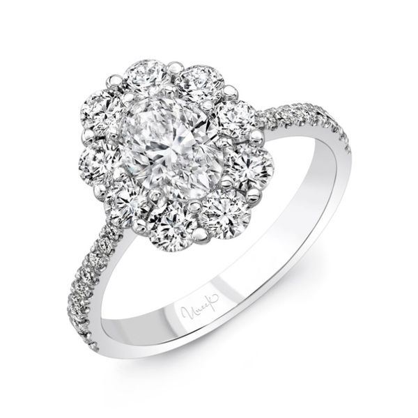 Oval Cluster Engagement Ring Hingham Jewelers Hingham, MA