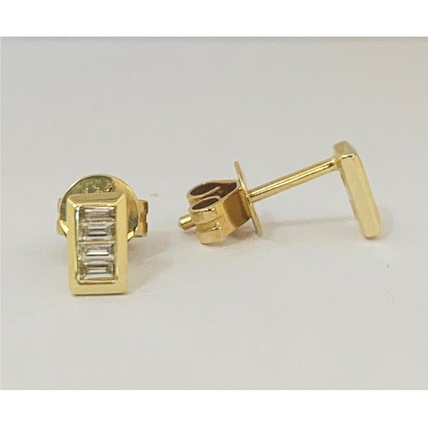 Baguette Diamond Stud Earrings Hingham Jewelers Hingham, MA