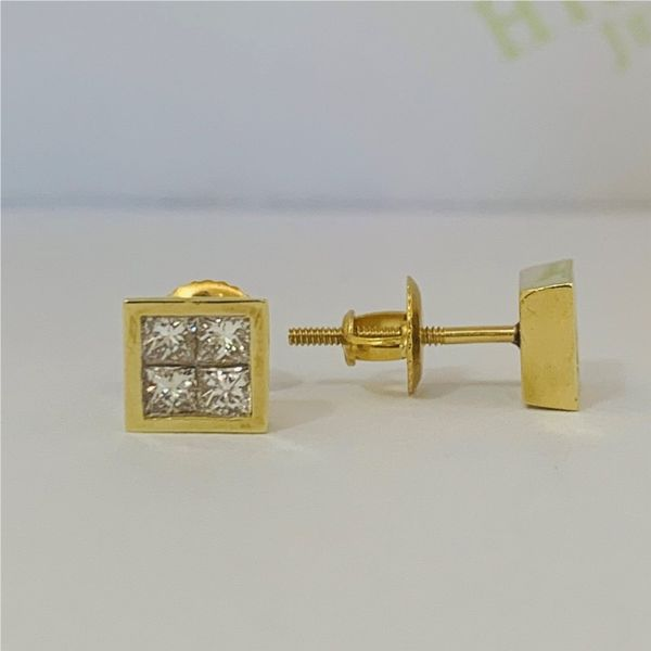 Princess Cut Stud Earrings Hingham Jewelers Hingham, MA