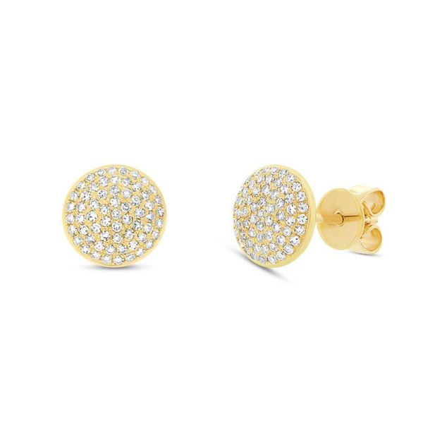 Pave Diamond Stud Earrings Hingham Jewelers Hingham, MA