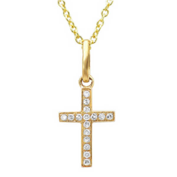 Gold Diamond Cross Necklace Hingham Jewelers Hingham, MA