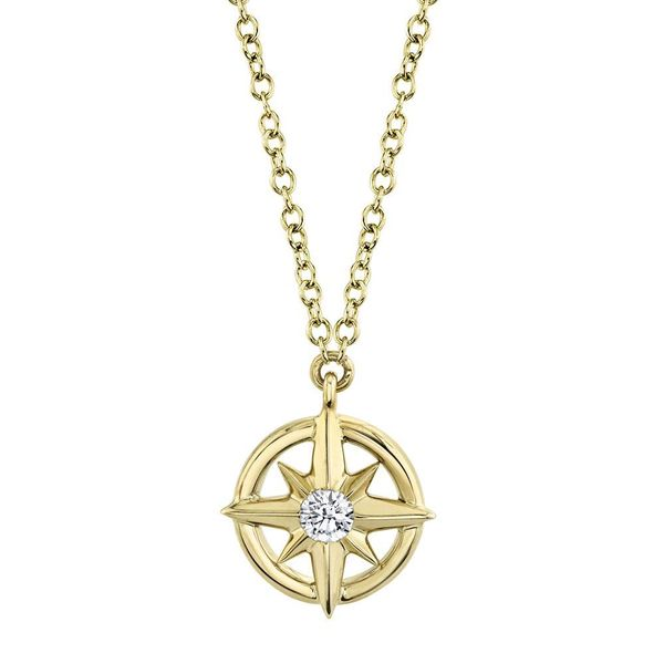 Petite Compass Rose Necklace Hingham Jewelers Hingham, MA