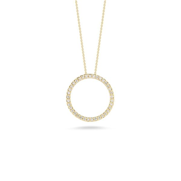 Tiny Treasures Circle Pendant with Diamonds Hingham Jewelers Hingham, MA