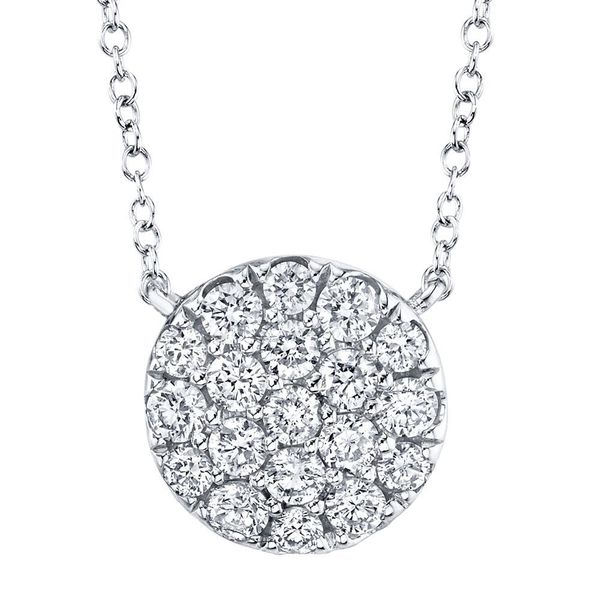Pave Circle Necklace Hingham Jewelers Hingham, MA