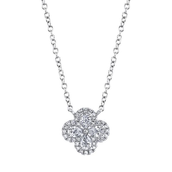Diamond Clover Necklace Hingham Jewelers Hingham, MA