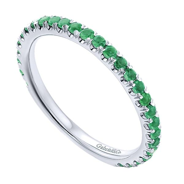 Emerald Stacklable Ring (May) Hingham Jewelers Hingham, MA