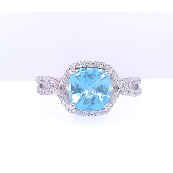 Blue Zircon Statement Ring Hingham Jewelers Hingham, MA