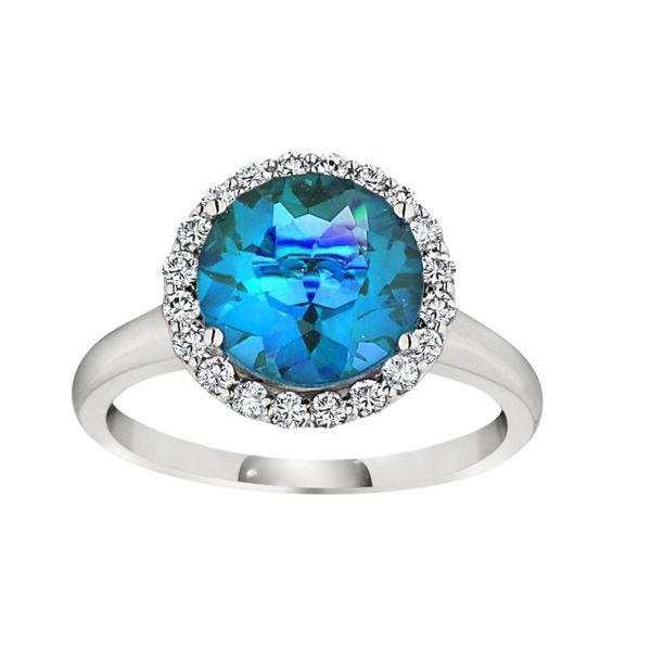 Blue Topaz & Diamond Ring Hingham Jewelers Hingham, MA