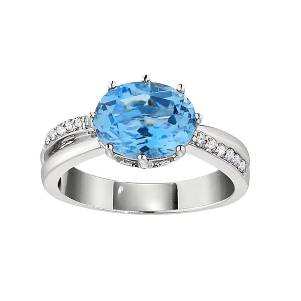 Blue Topaz Diamond Accent Ring Hingham Jewelers Hingham, MA