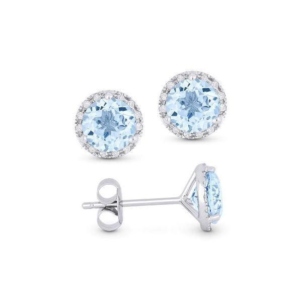 18a82ddb44b85 Blue Topaz Stud Earrings