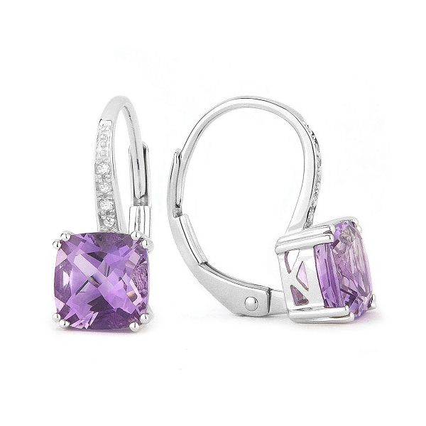 Amethyst Drop Earrings Hingham Jewelers Hingham, MA