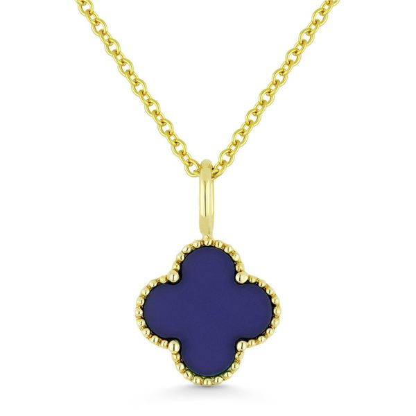 Lapis Clover Necklace Hingham Jewelers Hingham, MA