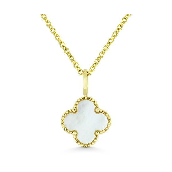 Mother of Pearl Clover Pendant Hingham Jewelers Hingham, MA