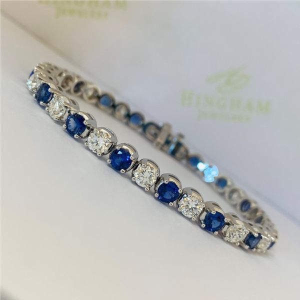 Sapphire and Diamond Bracelet Hingham Jewelers Hingham, MA
