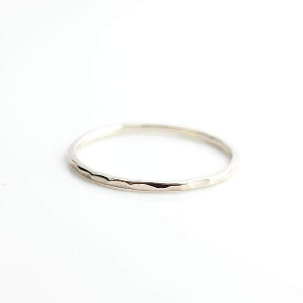 Hammered Stacking Ring Hingham Jewelers Hingham, MA