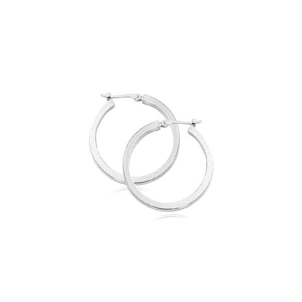 White Gold Hoop Earrings Hingham Jewelers Hingham, MA