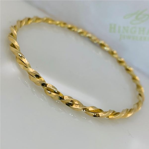 Custom Twisted Bangle Hingham Jewelers Hingham, MA