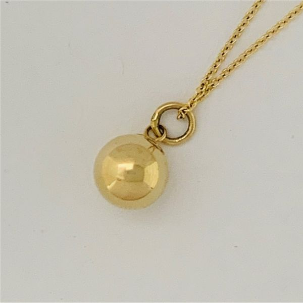 Gold Ball Necklace Hingham Jewelers Hingham, MA