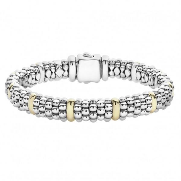 Signature Caviar Beaded Bracelet with Gold Hingham Jewelers Hingham, MA
