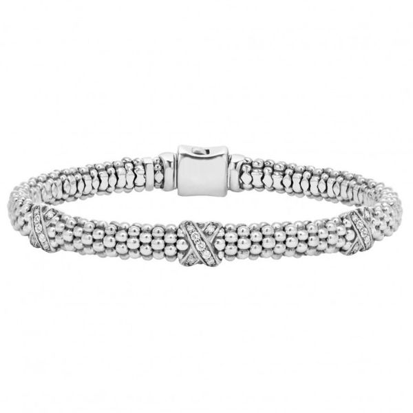 Diamond Lux Three Station X Bracelet Hingham Jewelers Hingham, MA