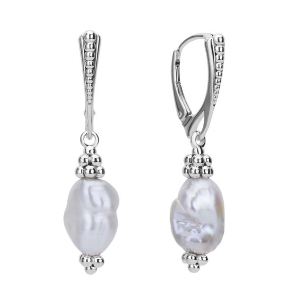 Luna Pearl Drop Earrings Hingham Jewelers Hingham, MA