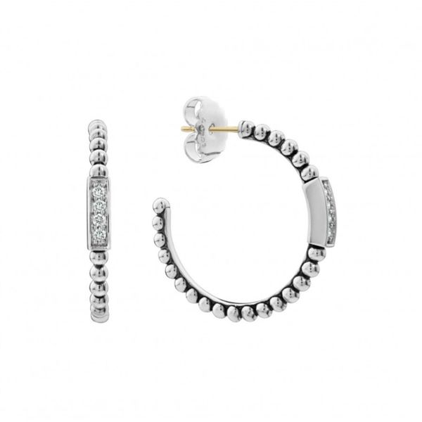 Caviar Spark Hoop Earrings Hingham Jewelers Hingham, MA