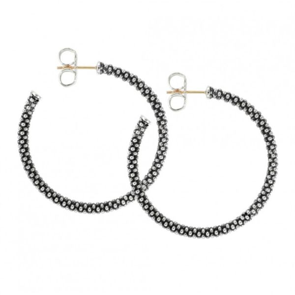Signature Caviar Hoop Earrings Hingham Jewelers Hingham, MA