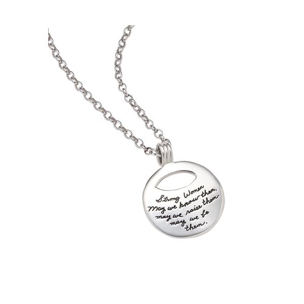 Strong Women, May We Be Them - Quote Necklace Hingham Jewelers Hingham, MA