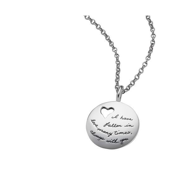 I Have Fallen In Love - Quote Necklace Hingham Jewelers Hingham, MA