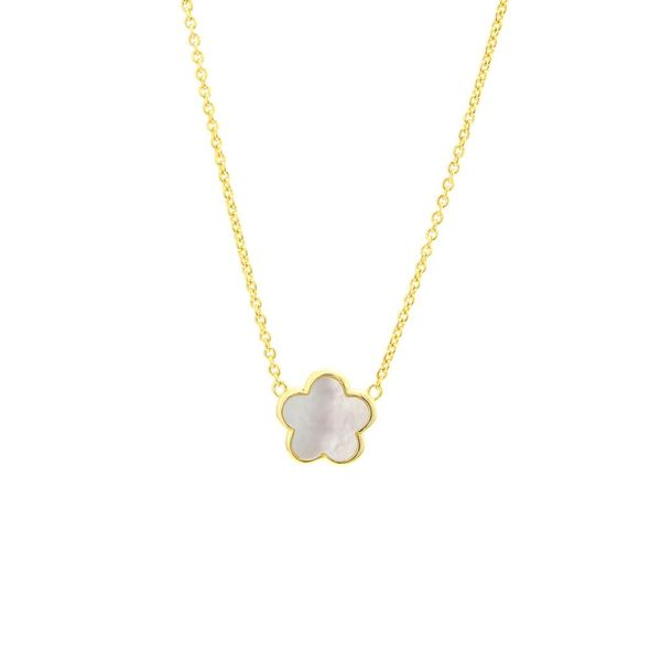Mother Of Pearl Flower Necklace Hingham Jewelers Hingham, MA