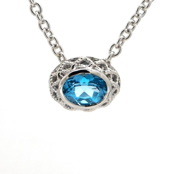 Blue Topaz Necklace Hingham Jewelers Hingham, MA